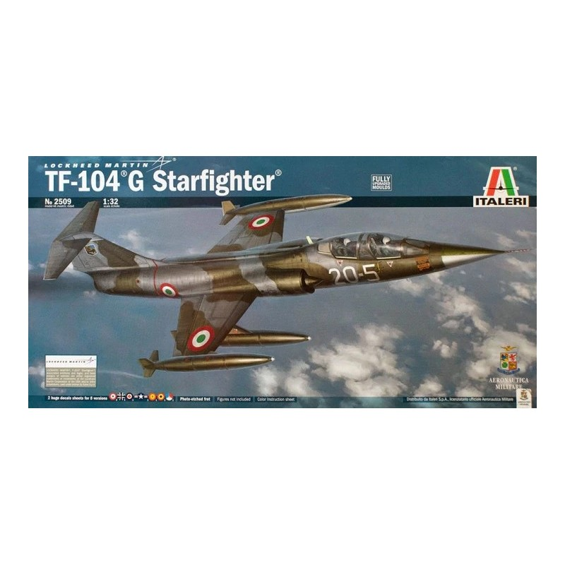 ITA-2509  Italeri 2509 1/32 Lockheed Martin TF-104 G Starfighter.fotograbados+calcas espanolas