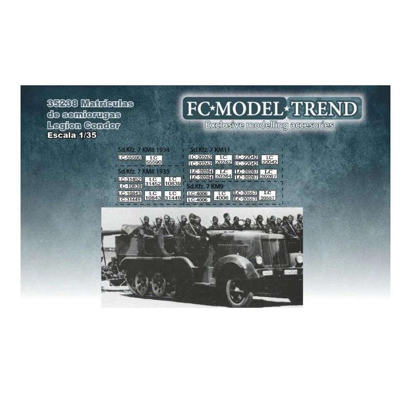 FC-35238 fc 35238 1/35 Matriculas de semiorugas de la Legion Condor