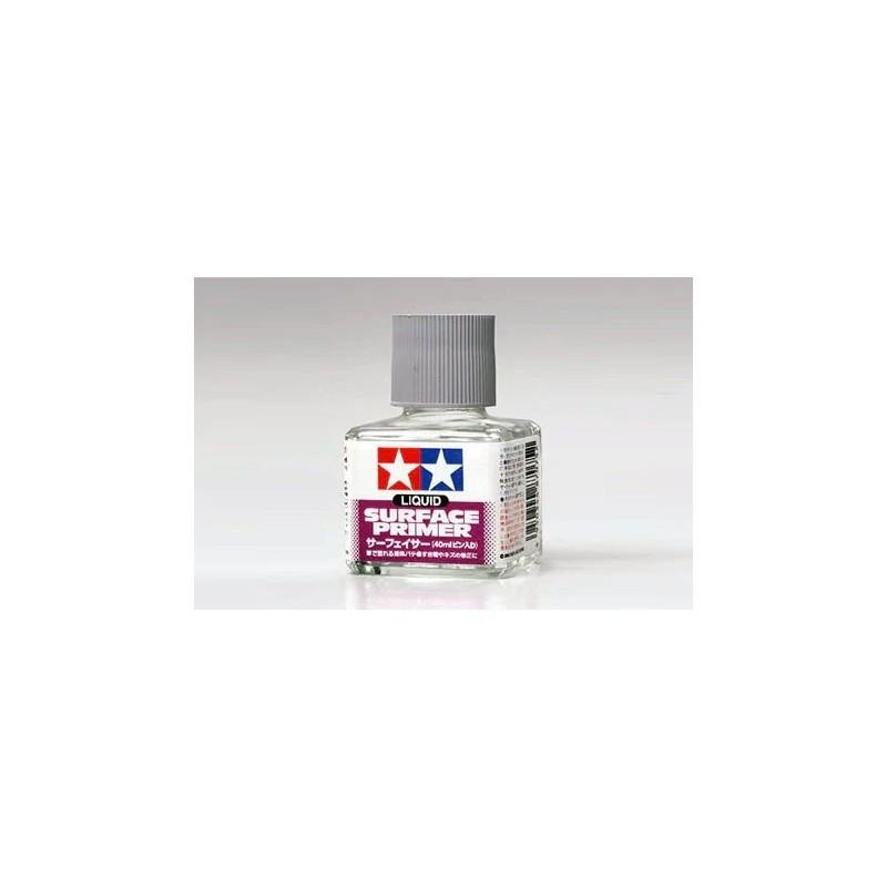 TAM-87075 Tamiya 87075 Liquid Surface Primer. Gray.40ml