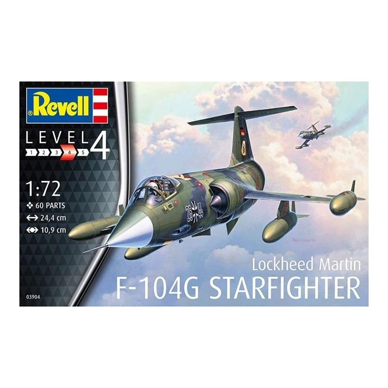 REV-03904 Revell 03904 1/72 Lockheed Martin F-104G Starfighter