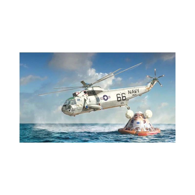 ITA-1433 ITALERI 1433 1/72 SH-3D Sea King Apollo Recovery 50° Ann. Moon landing