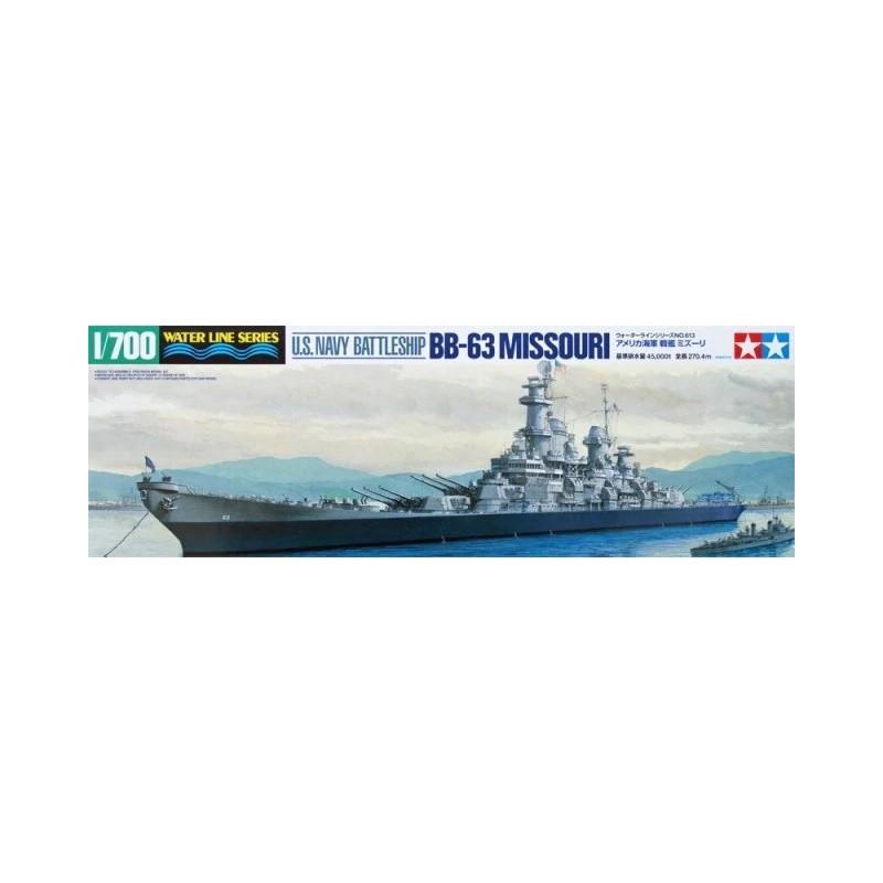 TAM-31613 Tamiya 31613 1/700 U.S. Navy Battleship BB-63 Missouri
