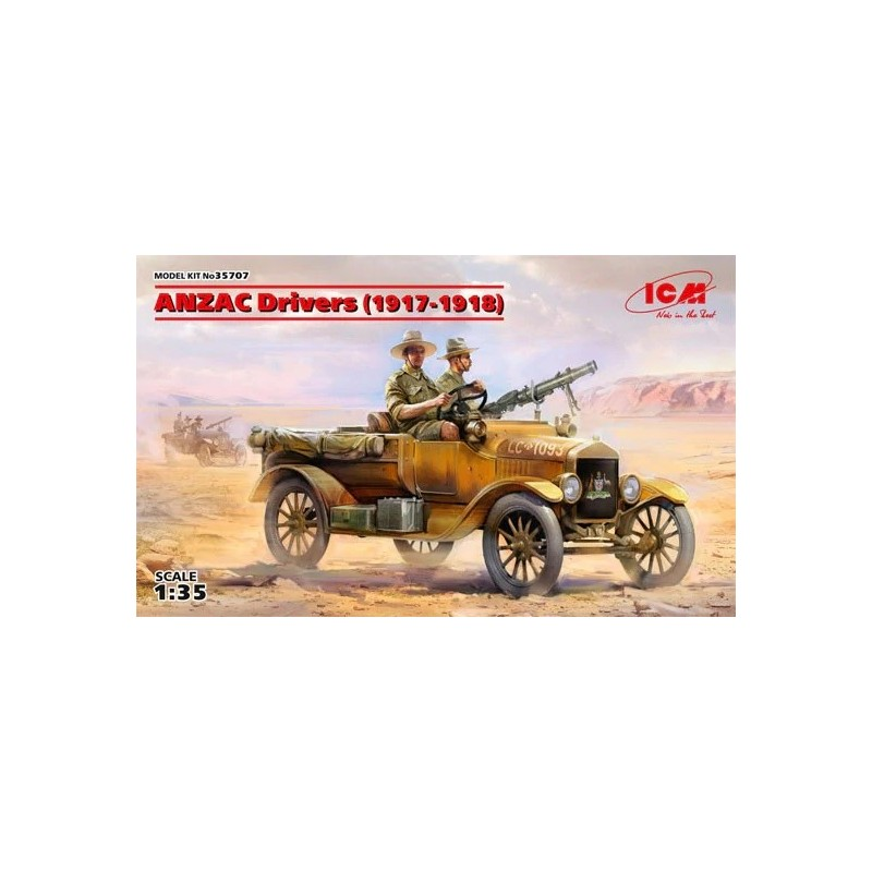 ICM-35707 ICM 35707 1/35 ANZAC Drivers (1917-1918) (2 figures) (100% new molds)