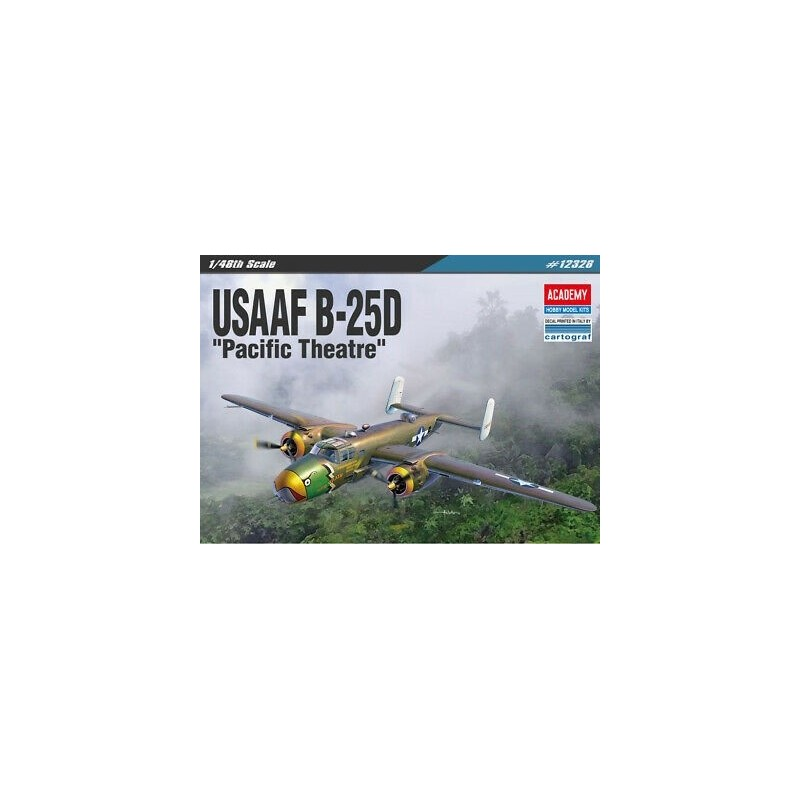 ACA-12328 ACADEMY 12328 1/48 USAAF B-25D PACIFIC THEATRE