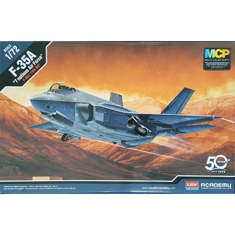 ACA-12561 ACADEMY 12561 1/72 F-35A SEVEN NATION AF 8/19