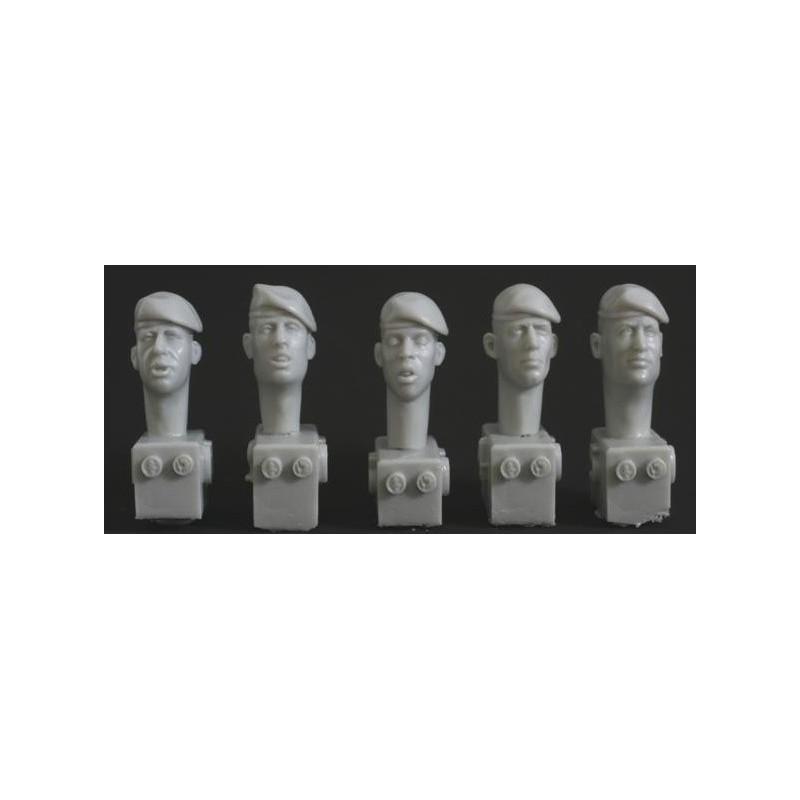 HOR-HQH03 HORNET HQH03 1/35  5 heads, berets mod. style, left pull