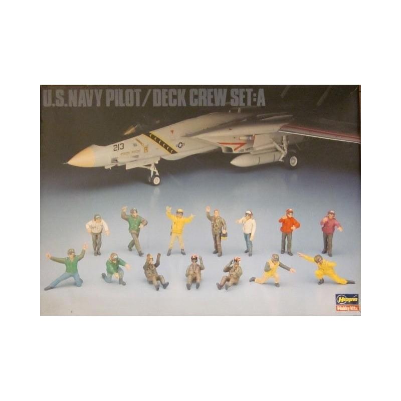 HA-36006 Hasegawa 36006 1/48 U.S. NAVY PILOT/DECK CREW SET A