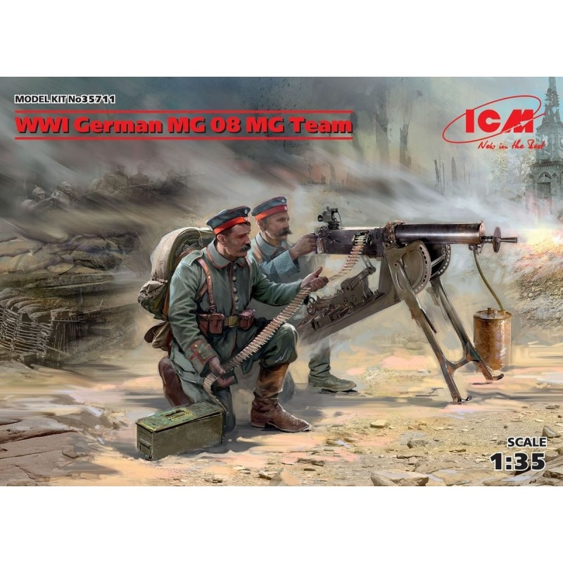 ICM-35711 ICM 35711 1/35 WWI German MG08 MG Team (2 figures)