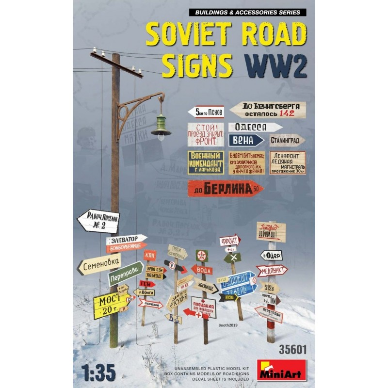 MA-35601 MINIART 35601 1/35 Soviet Road Signs WW2