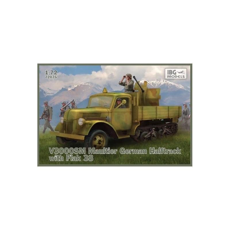 IBG-72075 IBG 72075 1/72 V3000S/SS M Maultier with Flak 38