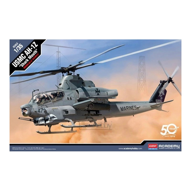"ACA-12127 ACADEMY 12127 1/35 USMC AH-1Z ""SHARK MOUTH"""