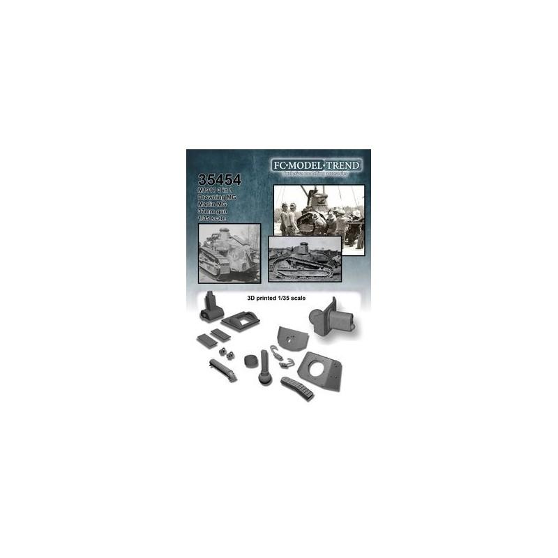FC-35454 FC 35454 1/35 M1917 light tank 3 en 1
