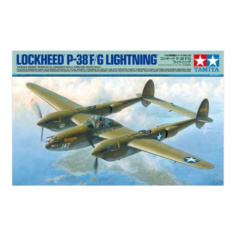 TAM-61120 Tamiya 61120 1/48 Lockheed P-38 F/G Lightning