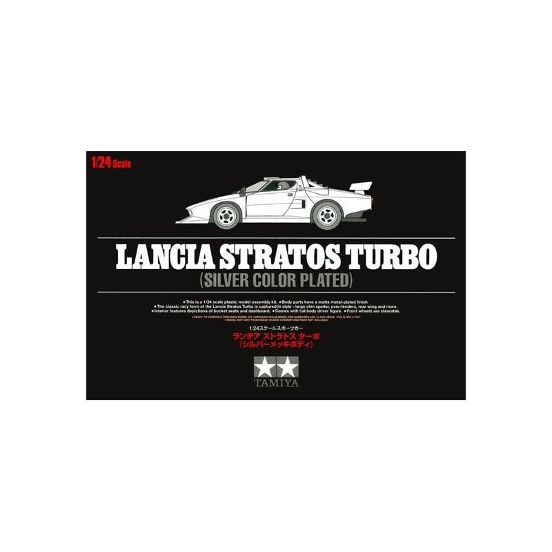 TAM-25418 Tamiya 25418 1/24 Lancia Stratos Turbo Silver Color Plated
