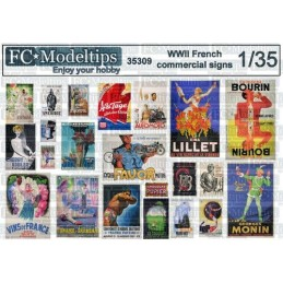 FC-35309 1/35 Carteles comerciales franceses WWII 1