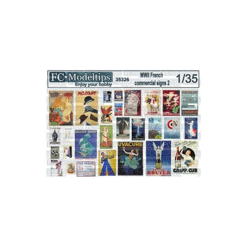 FC-35326 1/35 Carteles y posters comerciales Francia WWII 2