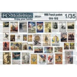 FC-35331 1/35 Posters en Francia WWI 1914-1918