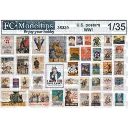FC-35339 1/35 Posters WWI Estados Unidos 1914-1918