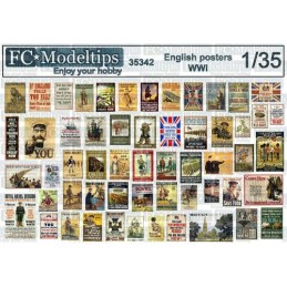 FC-35342 1/35 Posters ingleses WWI 1914-1918