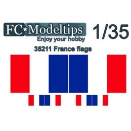 FC-C35711 FC C35711 1/35 Bandera adaptable Francia