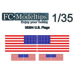 FC-C35727 FC C35727 1/35  Calca modelable bandera USA