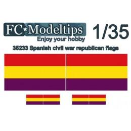 FC-C35733 FC C35733 1/35 Banderas adaptables Republicana guerra civil española