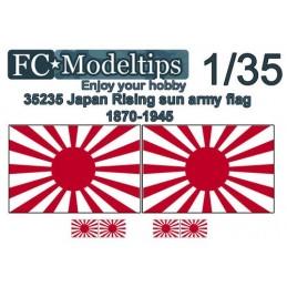 """FC-C35735 FC C35733 1/35 Bandera adaptable """"sol naciente"""" ejército japonés WWII"""