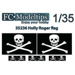 FC-C35736 FC C35736  Bandera adaptable Jolly Roger escala 1/35