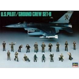 HA-36005 Hasegawa 36005 1/48 U.S. PILOT/GROUND CREW SET B