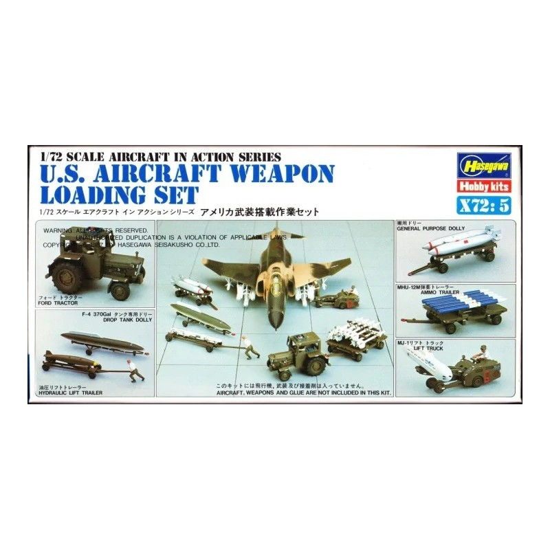 HA-X72.5 hasewaga X72.5 (35005) 1/72 U.S. AIRCRAFT WEAPON LOADING SET