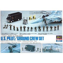 HA-X72.7 HASEGAWA X72.7 (35007) 1/72 U.S. PILOT AND GROUND CREW SET