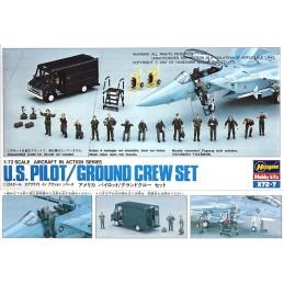 HA-X72.7 HASEGAWA X72.7 (35007) 1/72 U.S. PILOT AND GROUND CREW SET