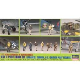 HA-X72.8 HASEGAWA X72.8 (35008) 1/72 W.W. II Pilot Figure Set