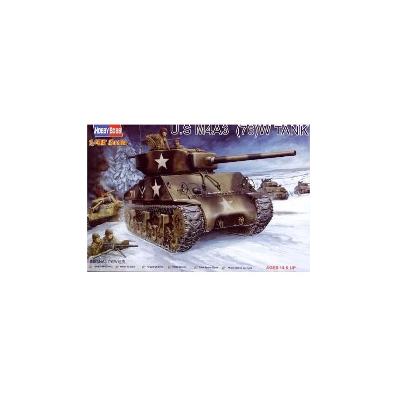 HB-84805 Hobby Boss 84805 1/48 U.S M4A3 (76W) TANK