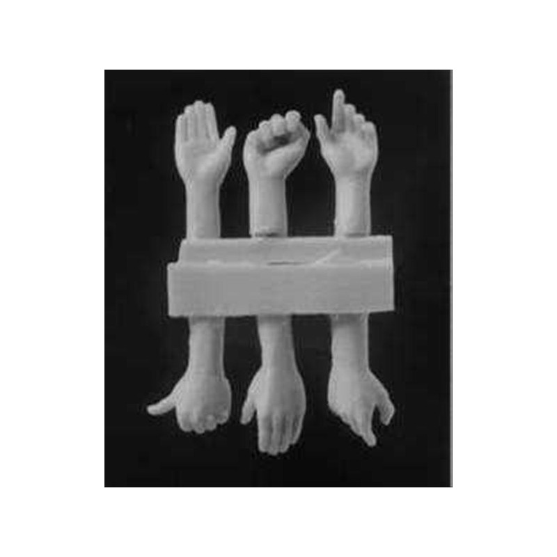 HOR-HANDS03 1/35  3 right and 3 left hands set  3