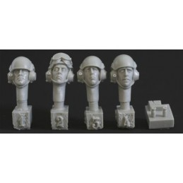 HOR-HBH11 1/35  4 heads. modern UK tank crew. 2 jigs to make   mics