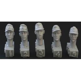 HOR-HGH15 1/35 5 heads. DAK or SS 2nd camo cap
