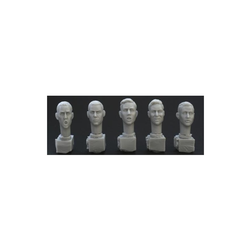 HOR-HH01 1/35 5 bare different heads