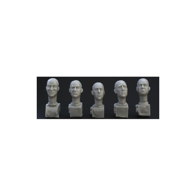 HOR-HH02 1/35 5 different character heads