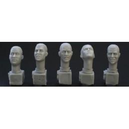HOR-HH03  1/35 5 heads,.close cropped hair