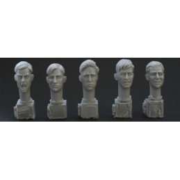 HOR-HH04 1/35 5 different heads. WW2 haircuts