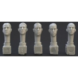 HOR-HH08 1/35 5 different middle aged euro heads