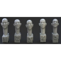 HOR-HH11 1/35 5 different heads laughing. joking