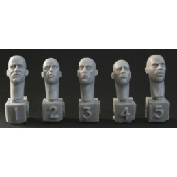 HOR-HH21 1/35 5 heads. Gaunt or battleweary