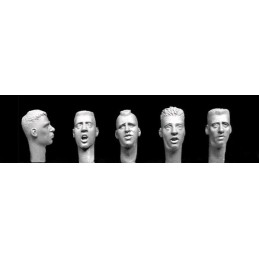 HOR-HH33 1/35  Bare heads with ultra short haircuts,
