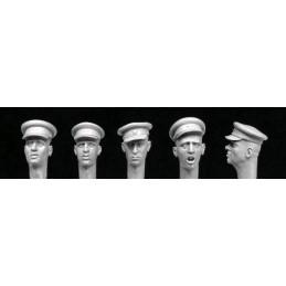 HOR-HRH07 1/35 Heads with Soviet WW2 officer caps.