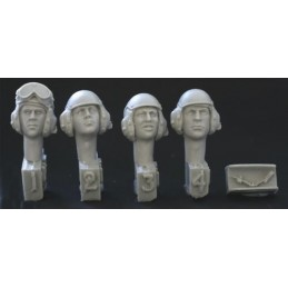 HOR-HUH07 1/35 4 HEADS US tank crew 1980s to present