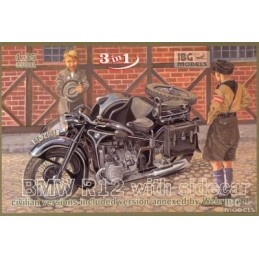 IBG-35001 1/35 BMW R12 with sidecar - civilian version ( 3 in 1)