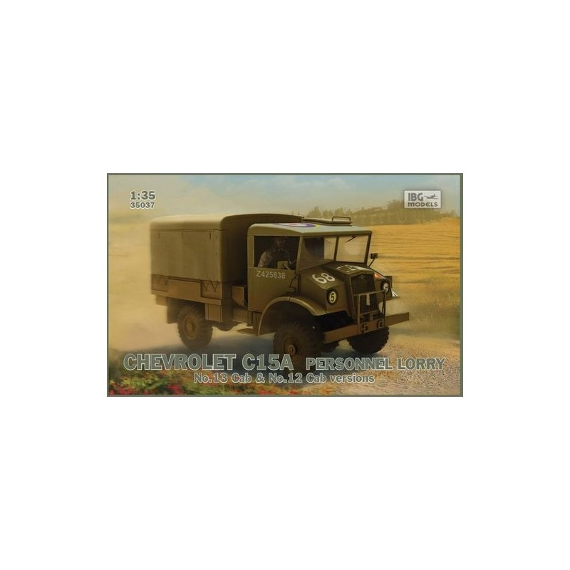 IBG-35037 IBG 35037 1/35  Chevrolet C15A  No.12/13 Cab Personnel Lorry