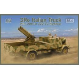 IBG-35053 IBG 35053 1/35 3Ro Italian Truck with 100/17 100mm Howitzer -